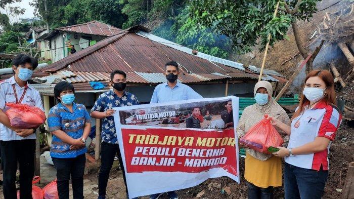 Tridjaya Motor bagi Sembako untuk Korban BencanaBanjir di Manado