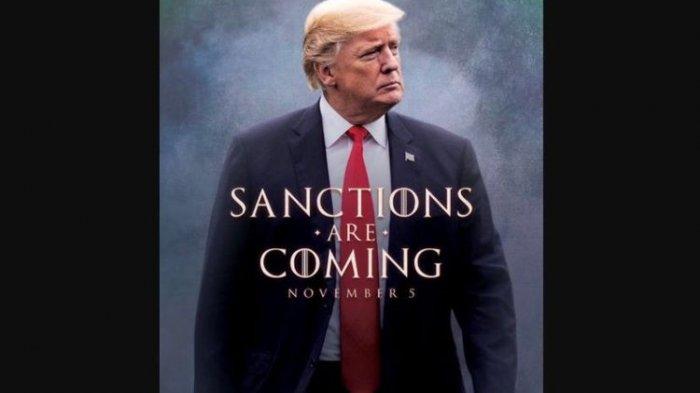 Donald Trump Unggah Poster Ala 'Game of Thrones' Jelang Sanksi untuk Iran