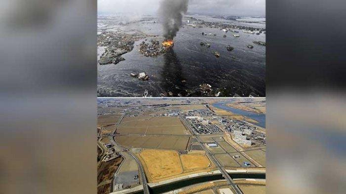 Tsunami dan Gempa 7,2 SR terjadi pada Sabtu 21 Maret 2021 pukul 18.09 waktu Jepang.