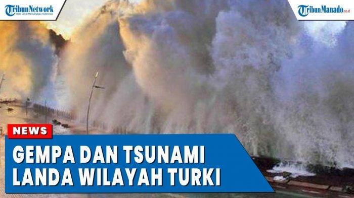 VIDEO Tsunami Turki Akibat Guncangan Gempa 7 SR