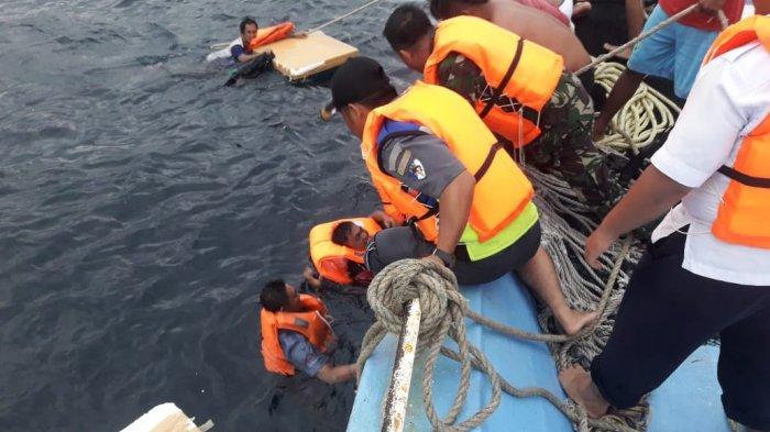 7 ABK dan Kapten KM Triangle Berhasil Dievakuasi ke Tagulandang