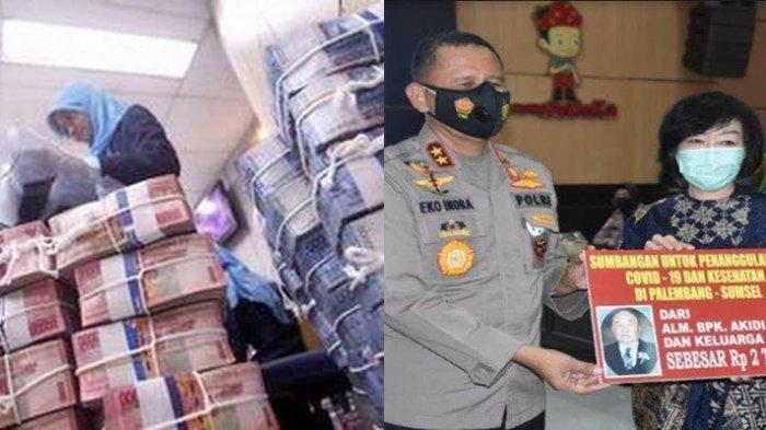 Keluarga Pengusaha Akidi Tio di Palembang Sumbangkan Uang Rp 2 Triliun