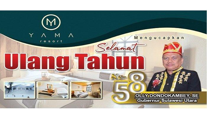 Ucapan HUT Yama Resort Minahasa Kepada Gubernur Sulawesi Utara Olly Dondokambey