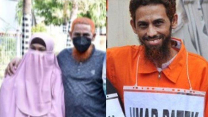 Mantan Teroris Bom Bali, Umar Patek dan istrinya, Ruqayyah. Dikabarkan akan bebas 2022 setelah divonis 20 Tahun penjara pada 2012.