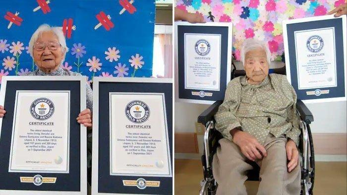 Sosok Umeno Sumiyama dan Koume Kodama Kembar Identik Tertua di Dunia, Sering Lakukan Ini