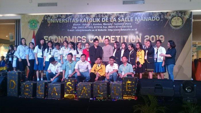 Mengembangkan Ekonomi Siswa, Universitas Katolik De La Salle Manado Gelar Economics Competition 2019