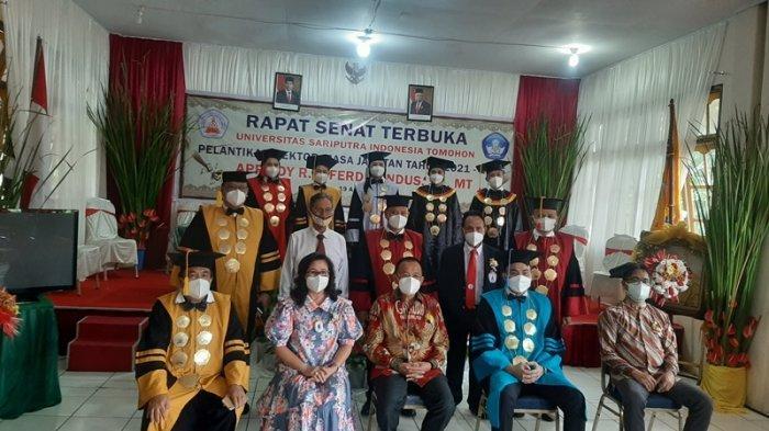 Universitas Sariputra Indonesia atau Unsrit Tomohon Gelar Pelantikan Rektor