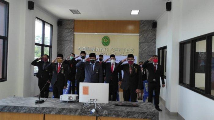 Peringati HUT Mahkamah Agung ke-76, Pengadilan Melonguane Kabupaten Talaud Ikut Upacara Virtual