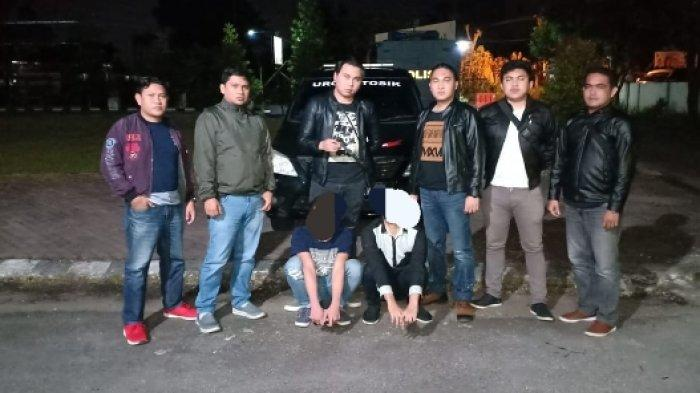 URC Totosik Polres Tomohon  Sergap Geng Motor Pemuda, Usai Digeledah Temukan Sajam