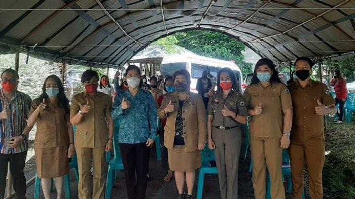 Usai Pelaksanaan Ibadah, sebelum pelaksanaan vaksinasi pedagang Pasar Beriman Tomohon.