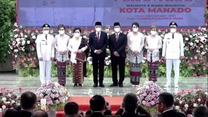 Pelantikan Wali Kota Manado Andrei Angouw dan Wakil Wali Kota Richard Sualang