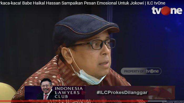 Ustaz Haikal Hassan berkaca-kaca. Sampaikan Pesan Emosional Untuk Jokowi | ILC tvOne