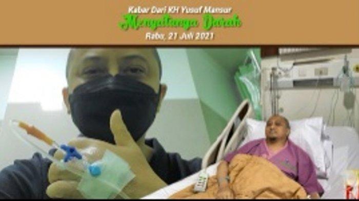 Kabar Ustaz Yusuf Mansur, Dilarikan ke Rumah Sakit dan Langsung Transfusi Darah, Kesehatan Menurun