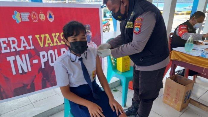 Anak-anak Usia 12 Tahun ke Atas di Talaud Terima Vaksin, Polsek Beo Target 143 Anak Divaksin