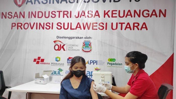 OJK dan Perbankan Gelar Vaksinasi Massal di Manado