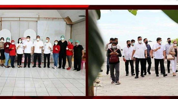 Wali Kota dan Wawali Maando Tinjau Vaksinasi Covid-19 di Manado