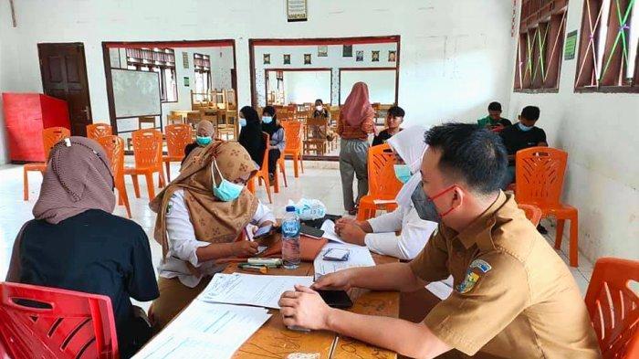 Puskesmas Sangkub Bolmut Gelar Kegiatan Vaksinasi Covid-19 di SMK Negeri 1