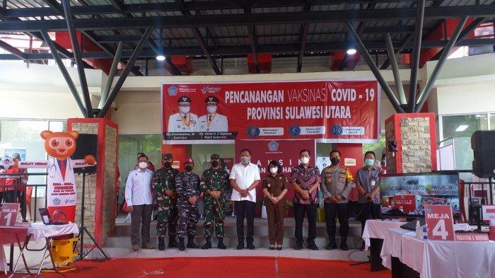 Forkopimda ikut vaksinasi di Sulut. Ada yang dijadwalkan kembali