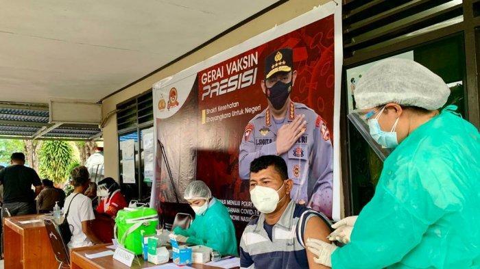 Poliklinik Polda Sulut Terus Beri Pelayanan Gerai Vaksinasi Presisi