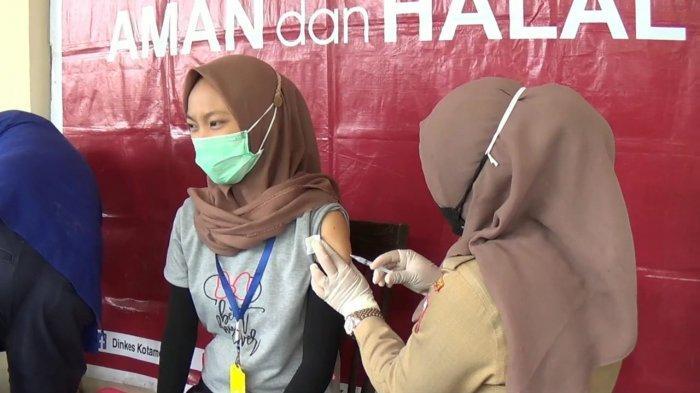 293 Pemilik dan Karyawan Toko di Kotamobagu Ikut Vaksinasi Covid-19, Novembri: Tidak Takut