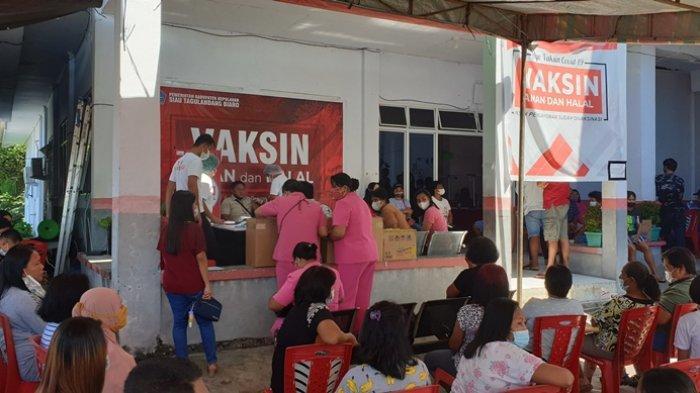 Vaksinasi Massal HUT ke-75 Bhayangkara di Kabupaten Sitaro Diserbu Warga