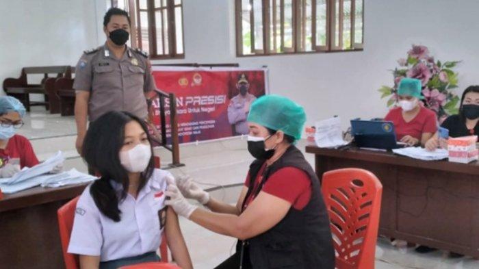 Sebanyak 376 Anak Hingga Orang Dewasa Ikut Vaksinasi Massal Polres Minut
