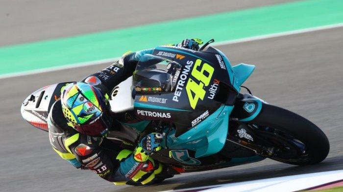 Valentino Rossi saat sesi tes Qatar jelang MotoGP 2021.