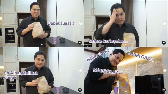 Erick Thohir Dapat BTS Meal untuk Putrinya, Disebut Papa Idaman Banget