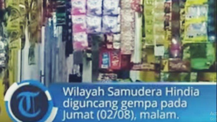 VIDEO Gempa 7,4 SR Guncang Banten, Terekam Kepanikan Warga, Kedalaman 10 Km & Berpontensi Tsunami