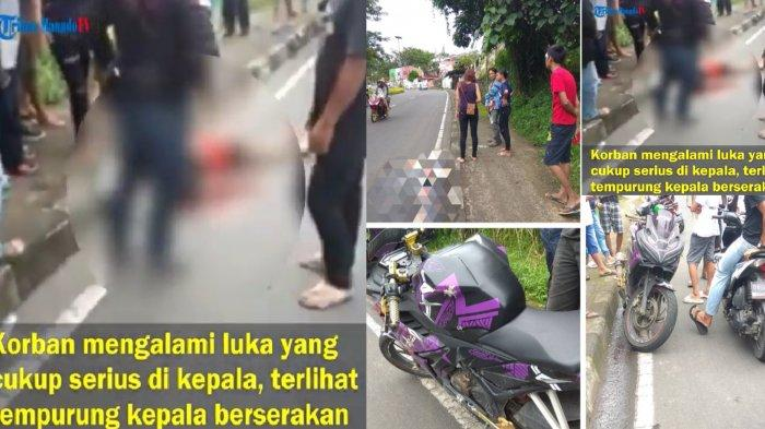 VIDEO Kecelakaan Maut di Kairagi, Warga Kerumuni Tubuhnya hingga Darah Bercucuran dari Kepala