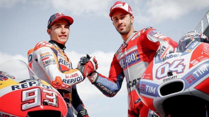 Jadwa MotoGP Belanda 2019 - Dovizioso Berusaha Mengejar Poin Pebalap Repsol Honda Marc Marquez