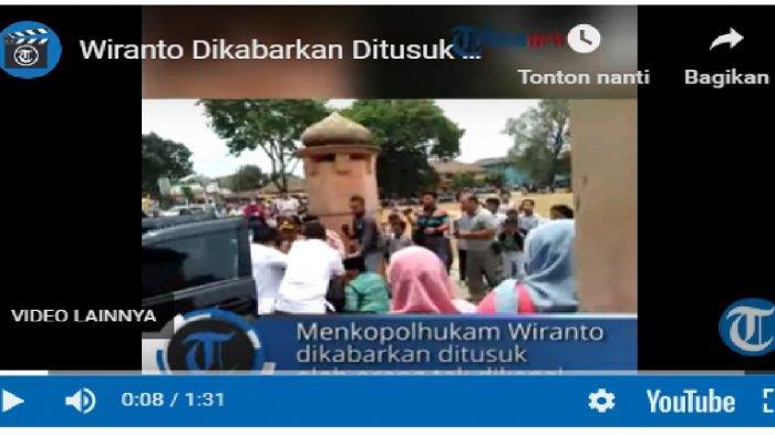 VIDEO Menko Polhukam Wiranto Diserang dengan Sajam, Baru Turun dari Mobil Langsung Jatuh Tersungkur!