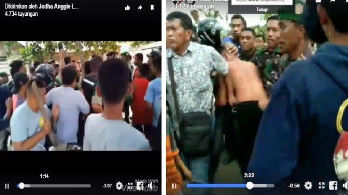 Video Penangkapan Mantan Anggota TNI yang Perkosa 6 Siswi SD, Dihajar Warga, Ada yang Pegang Balok!