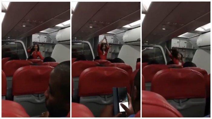 VIRAL VIDEO Pramugari Cantik Menari Indah di Kabin Pesawat, Hibur Penumpang, Dance Ala Artis Korea