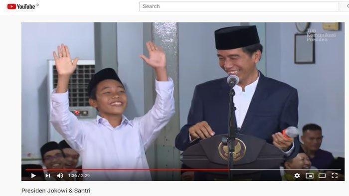 Video Lama Seorang Santri Viral, Sebut Prabowo jadi Menteri Jokowi, Jawabannya Terbukti