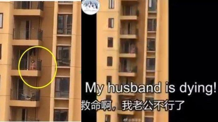 Video Viral Wanita Minta Tolong Suaminya Sekarat Terinfeksi Virus Corona di Apartemen: Aku Putus Asa