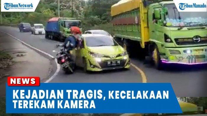 VIDEO Detik-detik Tabrakan Motor dan Mobil di Jalan Raya