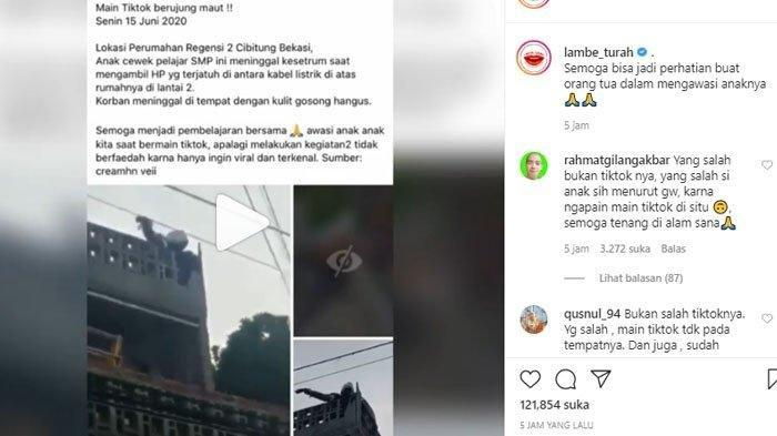 Viral Siswi SMP Tewas Tersengat Listrik Saat Bermain TikTok, Ini Videonya