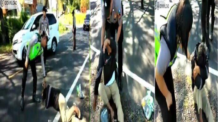 VIRAL VIDEO Pria Tua Menangis Ditilang Sat Lantas Polres Minsel: Tolong Tuhan, Kita Nyanda Ada Beras
