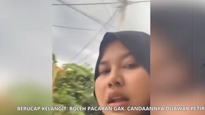 Seorang Gadis Nyaris Tersambar Petir saat Berdoa Minta Pacar, 'Enggak jadi Ya Allah', Videonya Viral