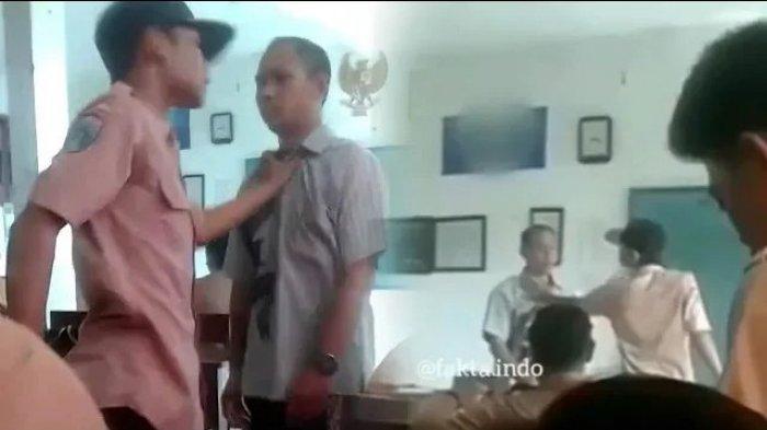 (VIDEO) Viral! Siswa Aniaya Guru di Kelas karena Ditegur Merokok Direkam Temannya!