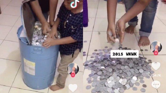 VIRAL, 5 Tahun Menabung Uang Koin, Keluarga Kini Panen Hasil Rp 20 Juta Untuk Dipakai Umrah