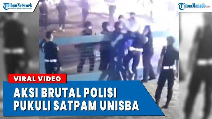 VIDEO Viral Aksi Brutal Polisi Memukul Satpam Universitas Islam Bandung