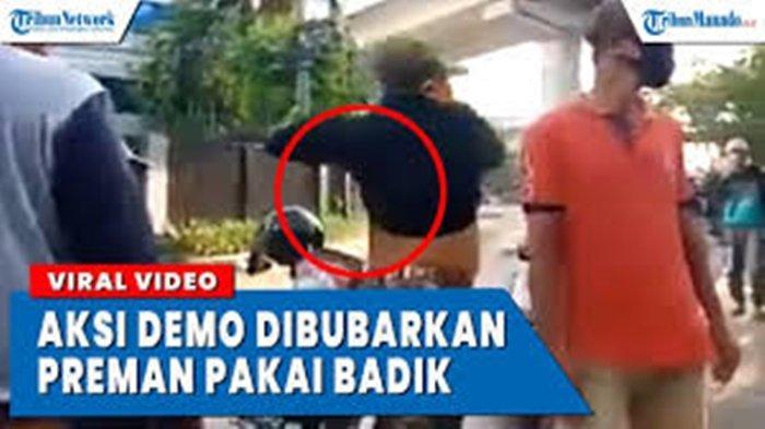 VIDEO Viral Aksi Massa di Makassar Dibubarkan Preman Bersenjata Badik, Ternyata Ini Penyebabnya
