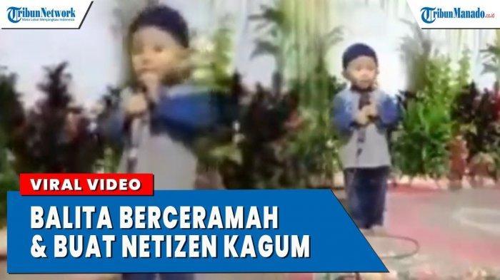 VIDEO Viral Balita Pandai Ceramah Buat Netizen Kagum