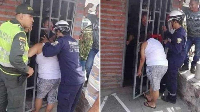 Kepala Wanita Ini Tersangkut di Pintu Rumah Tetangga,Gara-gara Sering Memata-matai
