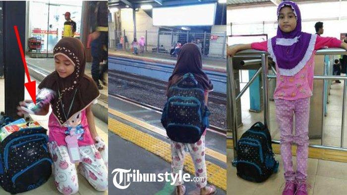 Viral Gadis Penjual Tisu di Stasiun Cawang, Tak Lama 'Malaikat Langit' Datang & Membantunya
