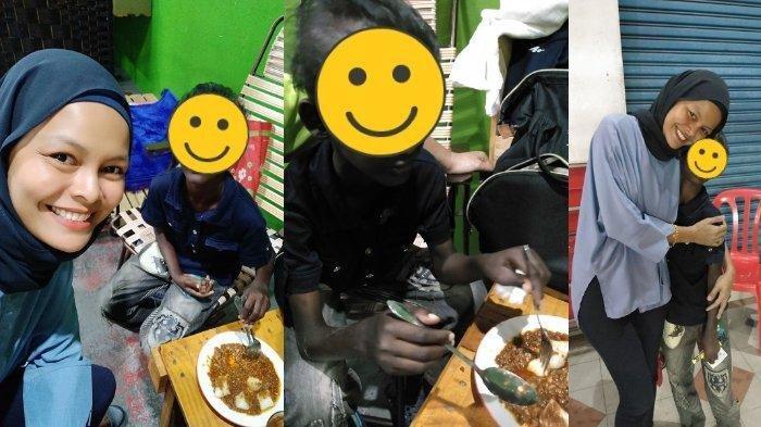 Kisah Haru Wanita Pemilik Kedai dan Anak Berkebutuhan Khusus Penjual Tisu: Nangis ke Tak Jumpa Saya!