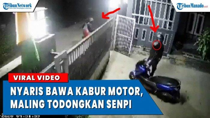 VIDEO Viral Maling Nyaris Bawa Kabur, Todongkan Pistol ke Sekuriti Komplek