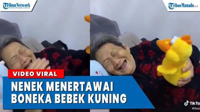 VIDEO Viral Nenek Tertawa Terpingkal-pingkal Karena Boneka Bebek